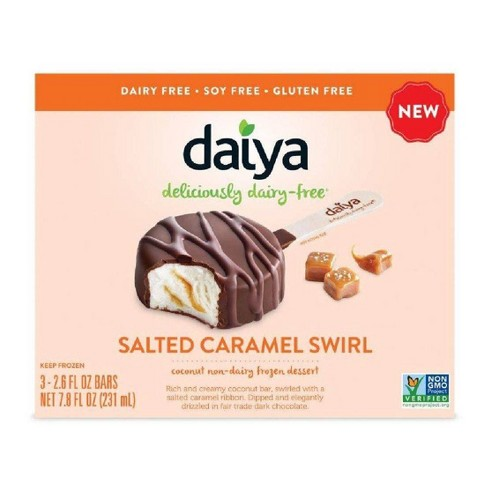 Daiya Salted Caramel Swirl Non-Dairy Frozen Dessert Bars - 3ct/7.8oz - image 1 of 3