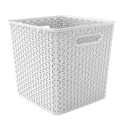 Y-weave basket bin - 11  - White - Room Essentials™