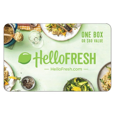 Not known Details About Hello Fresh Gift Card