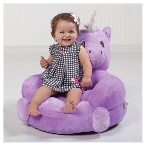Kids Plush Unicorn Character Chair Purple Trend Lab Target