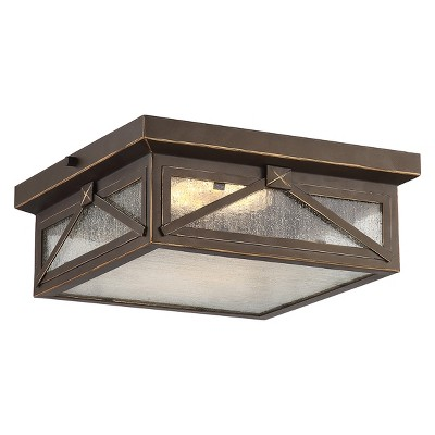Aurora Lighting 1 Light Umber Bay Flush Mount Ceiling Lights