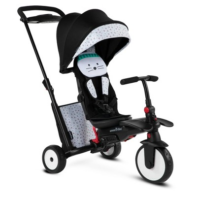 smarTrike Bunny Zoo Animal Design 7 in 1 Folding  Stroller Tricycle with Secure Safety Harness for Baby, Toddler, and Infant Ages 9 Months to 3 Years