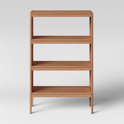 48 Minsmere Caned Bookshelf Natural Brown