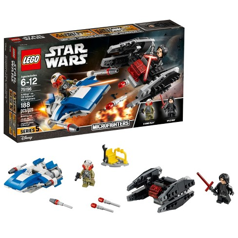 LEGO Star Wars™ A-Wing™ vs. TIE Silencer™ Microfighters 75196 - image 1 of 6