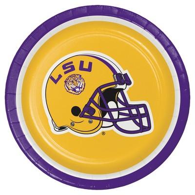 """8ct Louisiana State University 7"""" Dessert Plates - NCAA"""
