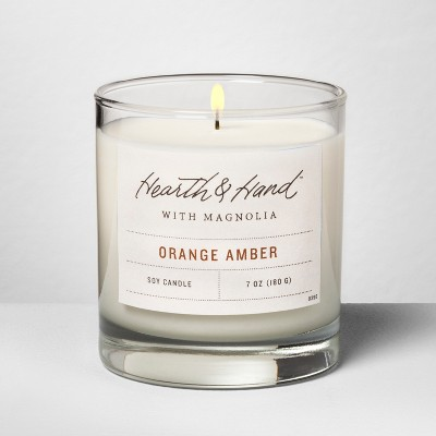Container Candle 7oz - Orange Amber - Hearth & Hand™ with Magnolia