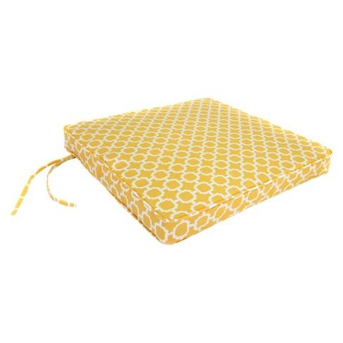 "Outdoor Seat Cushion - Yellow/White Geometric 19""x17"" - image 1 of 3"