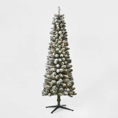 6ft Pre-lit Artificial Christmas Tree Flocked Alberta Spruce Clear Lights - Wondershop™ - image 1 of 4