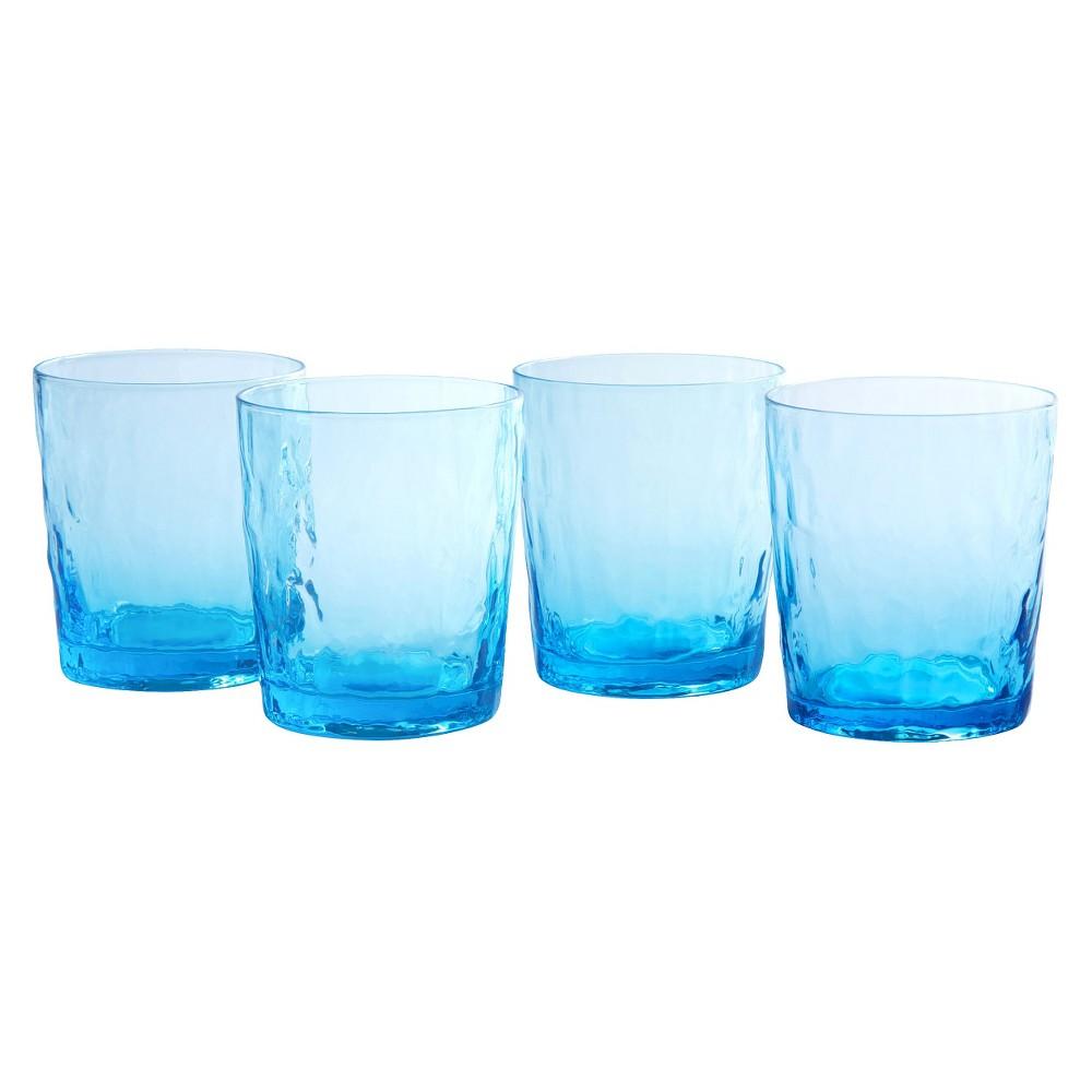 Artland Ripple 13oz 4pk Double Old Fashioned Glasses Blue Green, Blue/Green