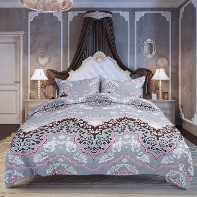 3 Pcs 100% Quality Polyester Floral Pattern Soft Lightweight Comfortable Comforter Bedding Sets - PiccoCasa