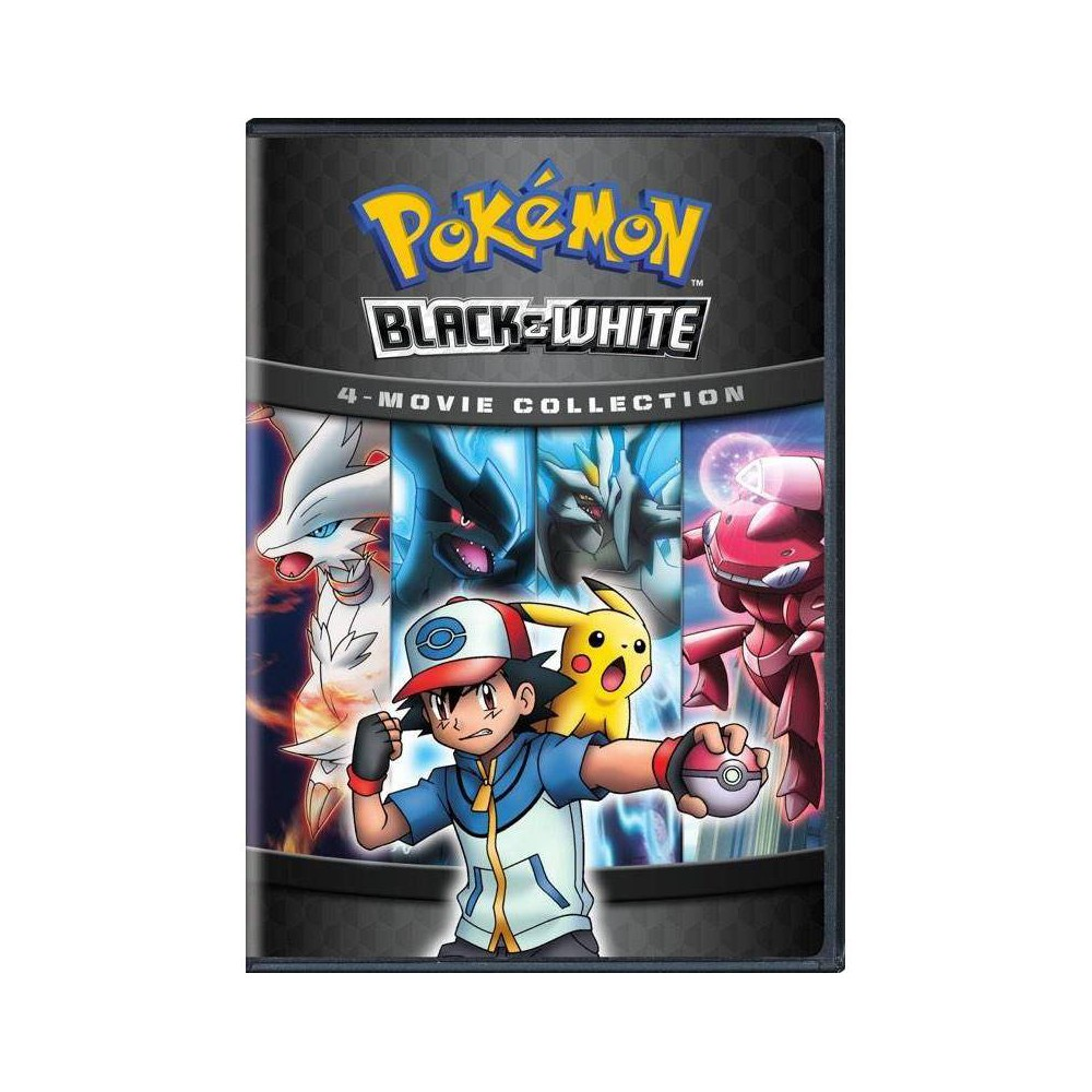 Pokemon Black & White 4: Movie Collection (Dvd) Collect four fan-favorite Pokemon movies in a single release. This 4-pack contains four Pokemon movies based on the Pokemon Black and White video games. It includes the dual Pokemon Black: Victini and Reshiram and Pokemon White: Victini and Zekrom, Kyurem vs. The Sword of Justice, and Genesect and the Legend Awakened.