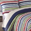 Full Froot Loops Striped 3pc Quilt Set Navy - Waverly Kids - image 2 of 4