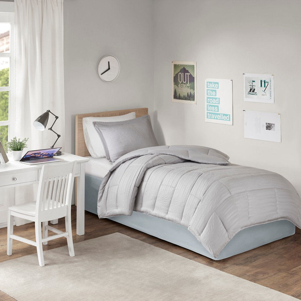 Twin Xl Extended Drop 36 Dorm Bed Skirt Gray
