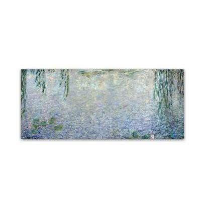 "20"" x 47"" Waterlillies Morning II by Claude Monet - Trademark Fine Art"