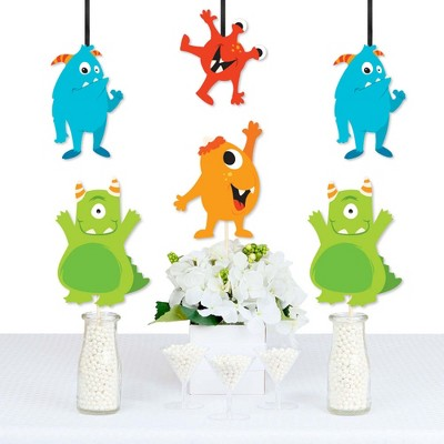 Big Dot of Happiness Monster Bash - Decorations DIY Little Monster Birthday Party or Baby Shower Essentials - Set of 20