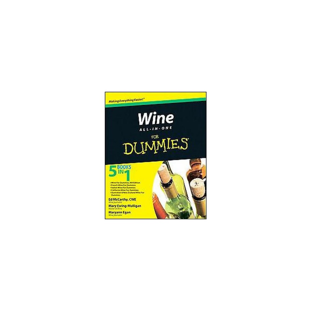 Wine All-in-One for Dummies (Paperback) (Ed McCarthy & Mary Ewing-Mulligan & Maryann Egan & Tony Aspler An all-inclusive, easy-to-use primer to all things wine Want to learn about wine, but don't know where to start? Wine All-In-One For Dummies provides comprehensive information about the basics of wine in one easy-to-understand volume. Combining the bestselling Wine For Dummies with our regional and specific wine titles, this book gives you the guidance you need to understand, purchase, drink and enjoy wine. You'll start at the beginning as you discover how wine is made. From there you'll explore grape varieties and vineyards, read labels and wine lists, and discover all the nuances of tasting wine. You'll see how to successfully store wine and serve it to your guests-and even build up an impressive collection of wine. Plus, you'll find suggestions for perfect food pairings and complete coverage on wines from around the world. Features wine tasting, serving, storing, collecting, and buying tips, all in a single authoritative volume Includes information on California wines, as well as other domestic and foreign locations including the US, Canada, France, Italy, Spain, Portugal, Germany, Austria, Hungary, Greece, Australia, New Zealand, South Africa, Chile, and Argentina. Helps you choose the best vintage for your needs Also covers champagne, sherry, and port wine Ed McCarthy and Mary Ewing-Mulligan are the authors of seven Dummies books on wine including the bestselling Wine For Dummies, 4th Edition, other contributing authors are recognized wine experts and journalists in Australia, New Zealand, and Canada Whether you're a wine novice or a budding sommelier, Wine All-In-One For Dummies is the one guide you need on your shelf to make your wine experience complete.