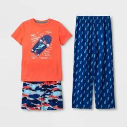 Boys' Graphic Print 3pc Pajama Set - Cat & Jack™ Orange
