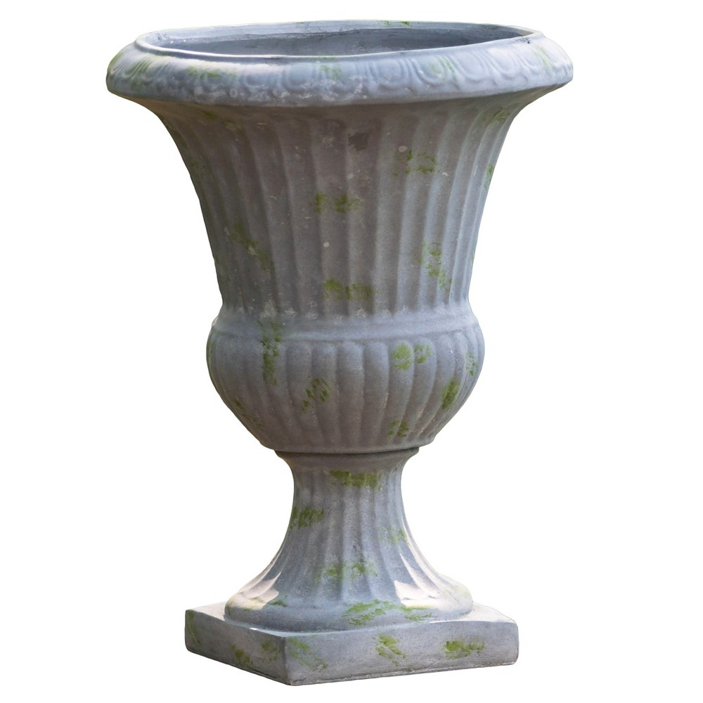 Image of 22.5 Ulysses Cast Stone Patio Urn - Christopher Knight Home, Stone Grey