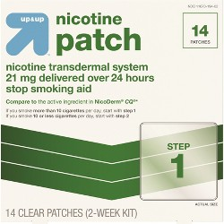 Nicotine Stop Smoking Aid Clear Patches Clear Step 1 - Up&Up™