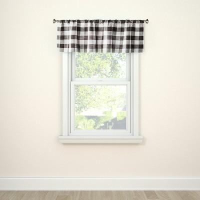 "15""x54"" Window Valance Small Check Gray - Threshold™"