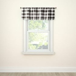 "15""x54"" Window Valance Small Check Gray - Threshold™"