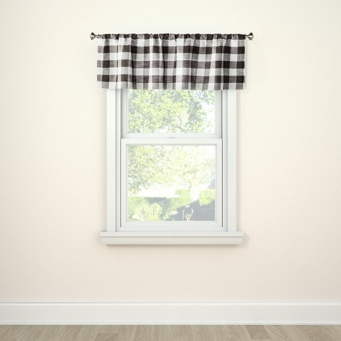 15 X54 Window Valance Small Check Gray Threshold Target