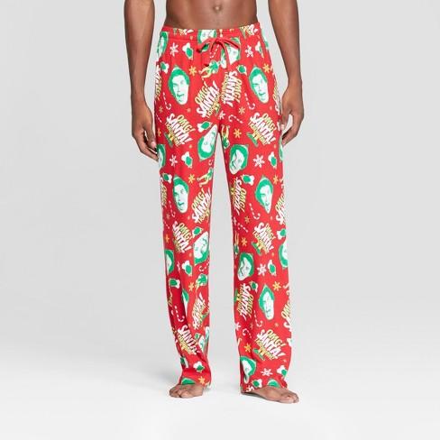 Men's Elf Santa Pajama Pants - Red - image 1 of 2