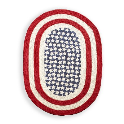 Lakeside American Flag Braided Rug – Americana Rug – 4th of July Decor