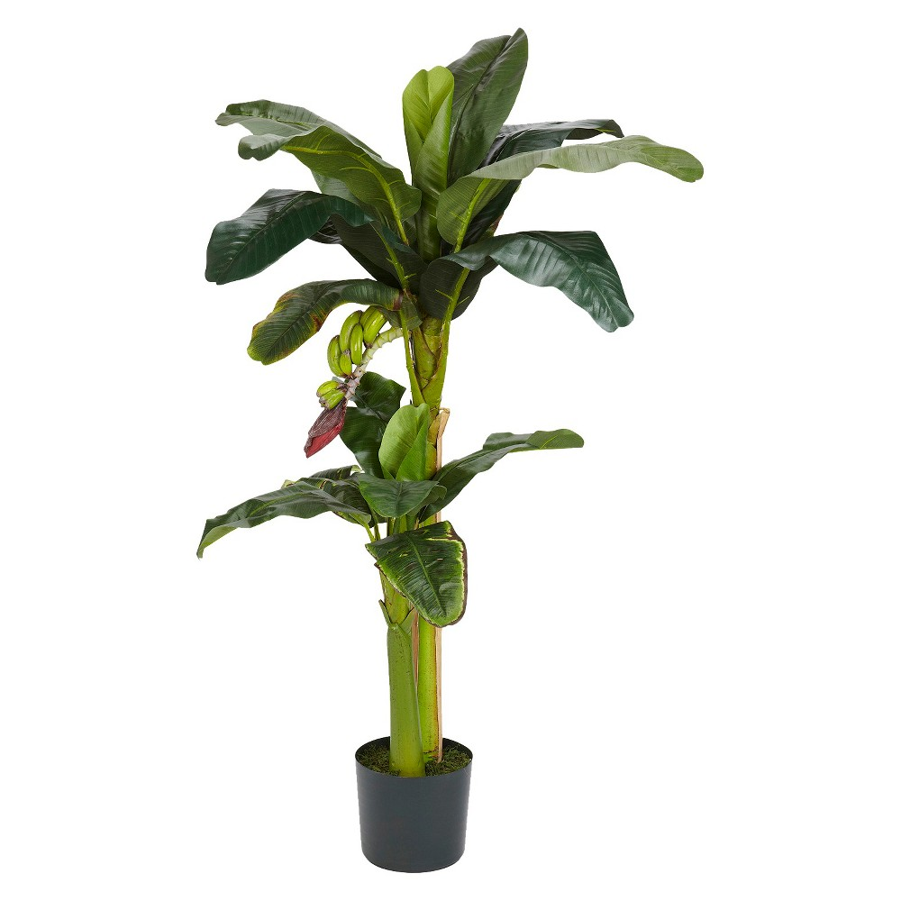 Nearly Natural 5+3 Banana Silk Tree w/Bananas Top