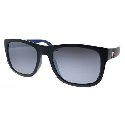 Tommy Hilfiger TH 1556/S D51 Unisex Rectangle Sunglasses Black Blue 52mm