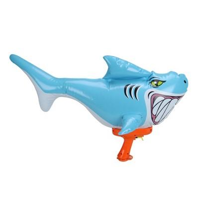 "Swim Way 20"" Blue and Orange Inflatable Shark Water Blaster"