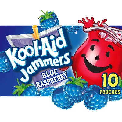 Kool-Aid Jammers Blue Raspberry Juice Drinks - 10pk/6 fl oz Pouches