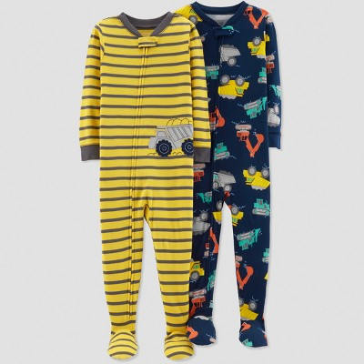 Baby Boys' Construction Pajama Set - Just One You® made by carter's Yellow 18M