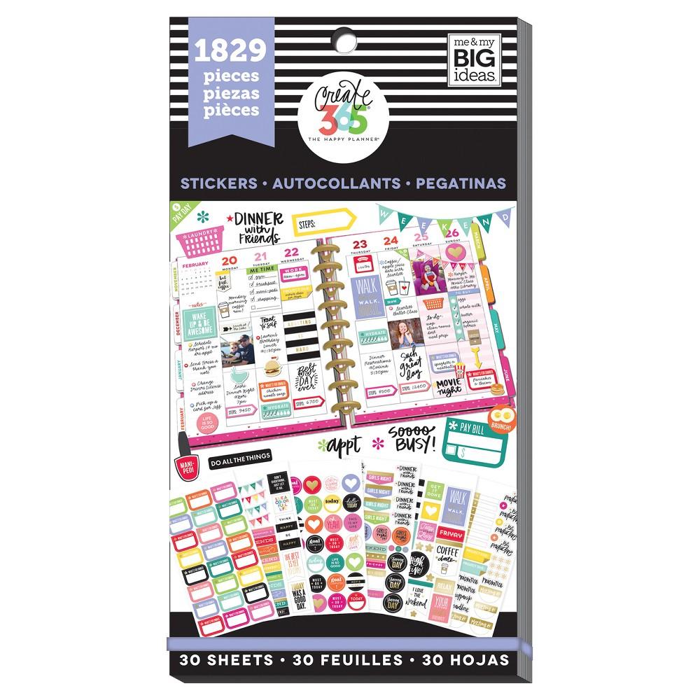 Me & My Big Ideas Planner Stickers 1829ct, Plans & Friends