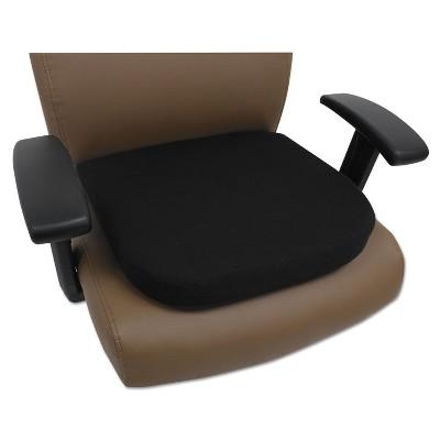 Alera Cooling Gel Memory Foam Seat Cushion, 16 1/2 x 15 3/4 x 2 3/4, Black CGC511