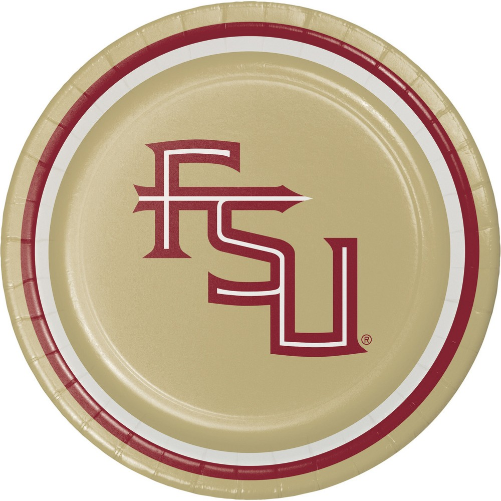 Image of 24ct University Of Florida State Seminoles Dessert Plates Red