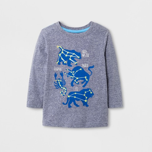 Toddler Boys' T-Shirt - Cat & Jack™ Heather Gray 2T - image 1 of 1
