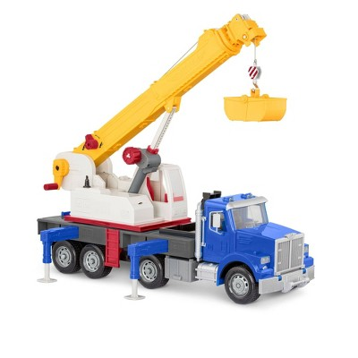 DRIVEN – Large Toy Truck with Movable Parts – Jumbo Crane Truck