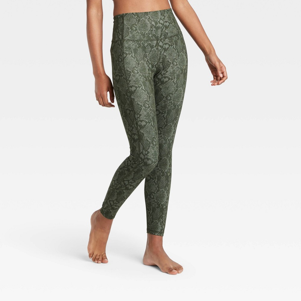 Women 39 S Contour Power Waist High Waisted Leggings 26 34 All In Motion 8482 Green Olive M