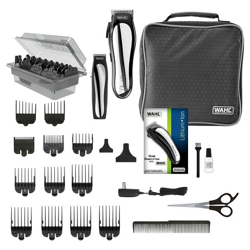 e5f2f7fe8269 Wahl Lithium Ion Pro Men s Cordless Haircut Kit With Finishing Trimmer    Soft Storage Case-79600-3301   Target