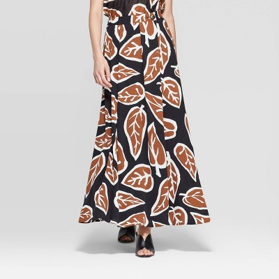 view Women's High Slit A Line Maxi Skirt - Who What Wear Black on target.com. Opens in a new tab.