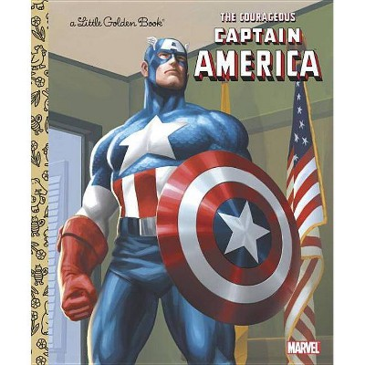 The Courageous Captain America - (Little Golden Book) by  Billy Wrecks (Hardcover)