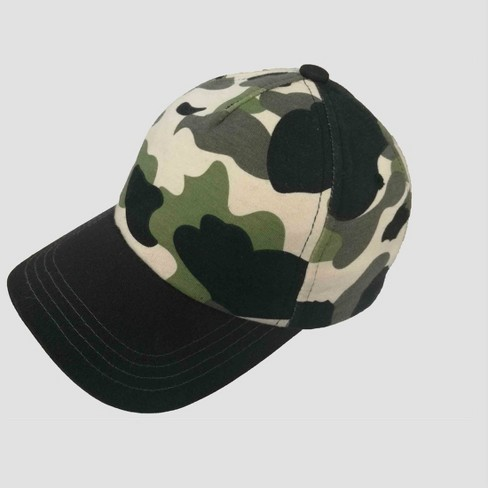 Toddler Boys' Camo Baseball Hat - Cat & Jack™ Gray 2T-5T - image 1 of 2