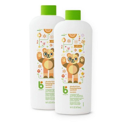 Babyganics Alcohol-Free Mandarin Foaming Hand Sanitizer Bottles - 32 fl oz/2pk Total