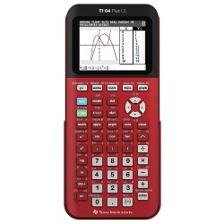 Texas Instruments 84 Plus CE Graphing Calculator - Red