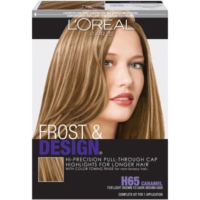 L'Oreal Paris Frost & Design Hi-Precision Pull-Through Cap Highlights - H65 Caramel - 1 Kit
