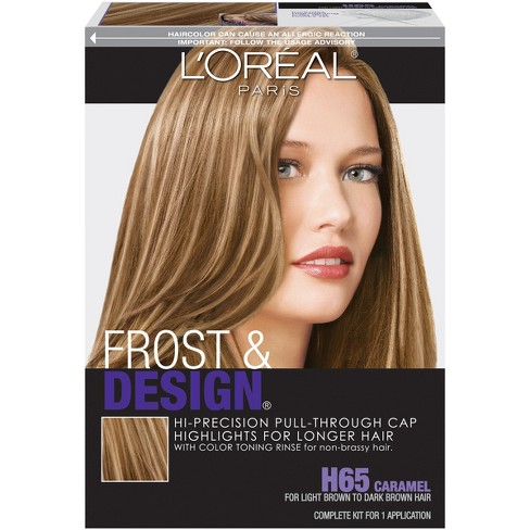 L Oreal Paris Frost Design Hi Precision Pull Through Cap Highlights H65 Caramel 1 Kit Target