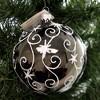 Laved Italian Ornaments Black Ball Stars And Swirls  -  Tree Ornaments - image 3 of 3