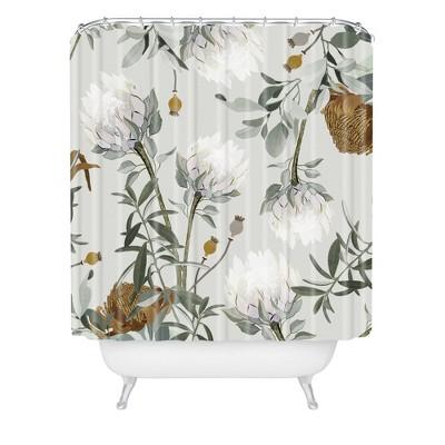 Iveta Abolina Helaine Shower Curtain Gray - Deny Designs