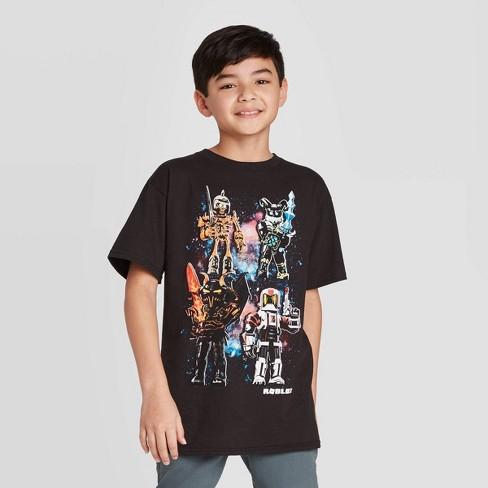 Boys Short Sleeve Roblox T Shirt Black Target